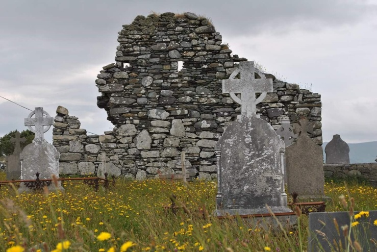 Ruins of a 700 year old Church in southern Ireland